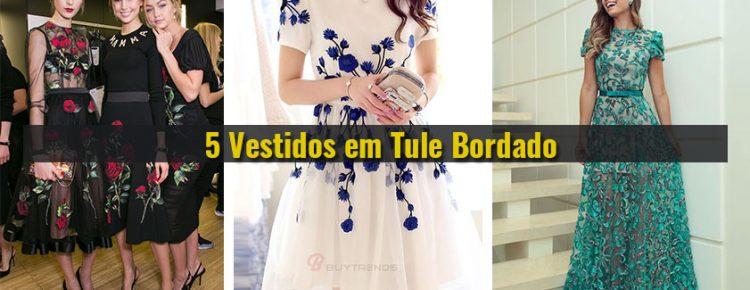 3500df6b8 5 - Vestidos em Tule Bordado com Pedraria, Festas, eventos e formaturas